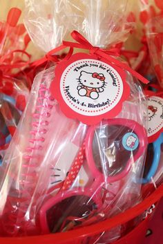 "Photo 10 of 22: Red & Aqua Hello Kitty / Birthday ""Hello Kitty 4th Birthday Party"" | Catch My Party"
