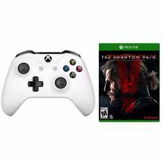 xBox One S White Wireless Controller +Metal Gear Solid V: Phantom Pain Bundle  #Microsoft