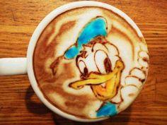 donald duck disney kaffee art