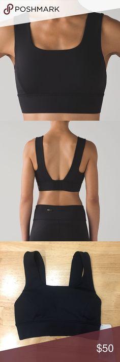 Lululemon On Track Bra NWT Black On track bra from lululemon! Amazing support and customizable back, just a lil too big for me 😩 lululemon athletica Intimates & Sleepwear Bras