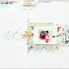 Layout for crafthouse.pl, using stamps from scrapbook werkstatt #scrapbooking #crafthouse #scrapbookwerkstatt