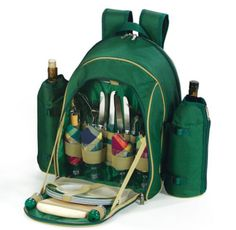 A backpack that can hold an entire picnic.