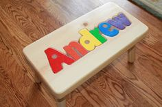 Must Haves in Toddler Bedrooms---and a use coupon code ChirpingMom to get 10% off this adorable personalized stool!