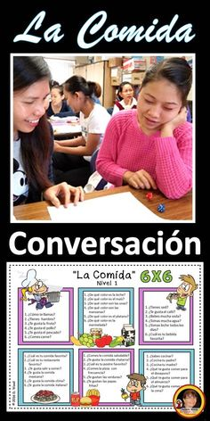 Students have fun and stay in the target language. Spanish Phrases, Spanish Vocabulary, Spanish Language Learning, Teaching Spanish, Food Vocabulary, Spanish Grammar, Teaching French, Learn To Speak Spanish, Learn Spanish Online