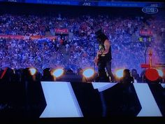 A man and his guitar and top hat at the #NRLGrandFinal, also known as the legend @Slash! Rock and F'n Roll!