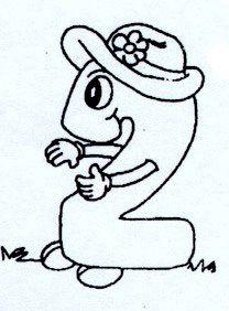 Numeros Animados Del 0 Al 9 Numero Para Colorear Dibujos Animo