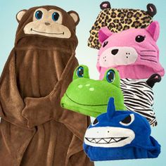 DAILY DEAL: Animal Hooded Blankets $5.99