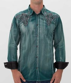 Roar Men's Optimize Embroidered Shirt Green