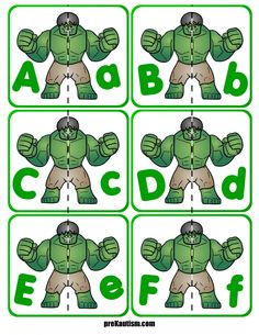 FREE! Hulk Letter Match Activity