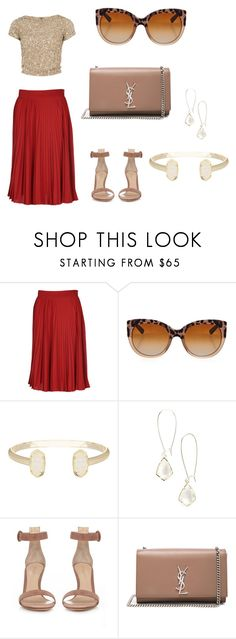 """""""Glamorous evening Look"""" by hanakalesic ❤ liked on Polyvore featuring Gucci, Dolce&Gabbana, Kendra Scott, Gianvito Rossi, Yves Saint Laurent and Alice + Olivia"""