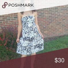 Black/white Strapless Party Dress Black/white party Dress size 4 by the Gap Gap Dresses Mini