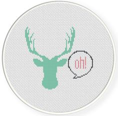 FREE for June 13th 2014 Only - Oh Deer Cross Stitch Pattern