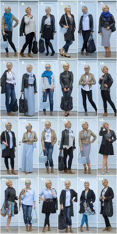 Szafa w pigułce na jesień w realu – 12 ciuchów i 24 zestawy. No to zaczynaaaaamy! Capsule Wardrobe Women, Capsule Outfits, Fashion Capsule, Mode Outfits, Fashion Outfits, Fashion Tips, Wardrobe Basics, Fashion Pants, Over 60 Fashion
