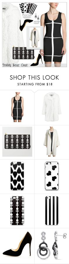 """Wrap Up Into Your Teddy Bear Coat"" by atelier-briella ❤ liked on Polyvore featuring Boohoo, Helmut Lang, Amour, dress, bag, iPhonecases and teddybearcoats"