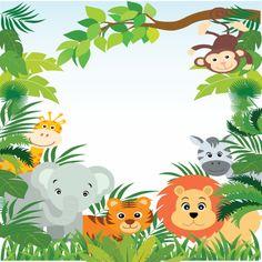 Shop Cute Jungle Safari Baby Shower Invitations created by invitationstop. Safari Party, Safari Theme, Jungle Safari, Baby Shower Favors, Baby Boy Shower, Baby Shower Invitations, Jungle Theme Birthday, 1st Boy Birthday, Imprimibles Baby Shower