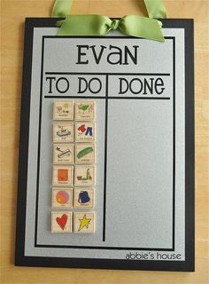 CHORE CHART COMBINATION  Set includes Chore Chart & by AbbiesHouse, $27.00