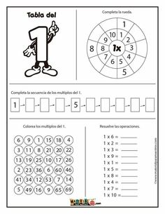 Multiplication Activities, 1st Grade Math Worksheets, 5th Grade Math, Math School, Math Help, Homeschool Math, Math Classroom, Word Work, Professor