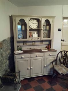 Ah! ♥ A Pine Farmhouse Kitchen Dresser Is Getting The MissElaineous  Treatment. A Work In Progress, Painted With Annie Sloan Old Ochre Chalk  Paint, U2026