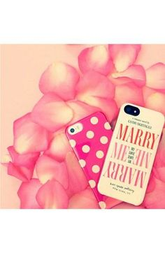 Marry me! Kate Spade iPhone case.