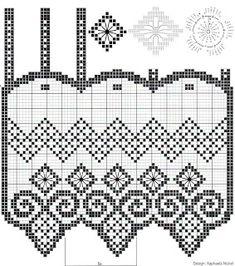 Receitas de Crochet: Cortina -curtain
