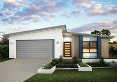 "Képtalálat a következőre: ""skillion roof facade"" Contemporary House Plans, Modern House Plans, Modern House Design, House Paint Exterior, Interior Exterior, Exterior Design, House Roof, Facade House, Grant House"
