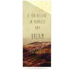 """East Urban Home Desert Quote 'Believe' Textual Art on Metal Size: 20"""" H x 16"""" W x 1"""" D"""