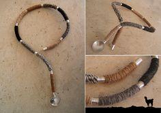 collar flexible en lana de alpaca y plataa | Este collar de … | Flickr