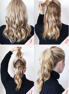 How to make your ponytail look longer and bigger :) by lilalola