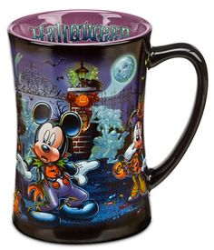 From Disney Parks, this year's Halloween mug features your favorite classic characters and the hitchhiking ghosts coming out to socialize! #hauntedmansion #mickeymouse