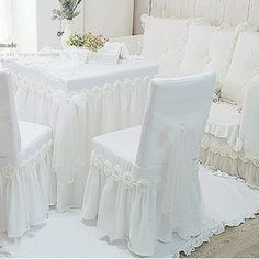 textile product on sale at reasonable prices, buy white Princess lace tablecloth for wedding decoration luxury rose dining table cloth chair cover table cover size custom from mobile site on Aliexpress Now! Wedding Linens, Wedding Chairs, Wedding Table, Garden Wedding, Slipcovers For Chairs, Chair Cushions, Chair Covers, Table Covers, Dining Table Cloth