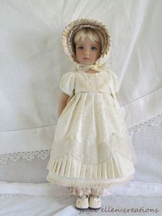 "13"" Effner Little Darling BJD fashion rich ivory Regency OOAK handmade by JEC #ClothingAccessories"