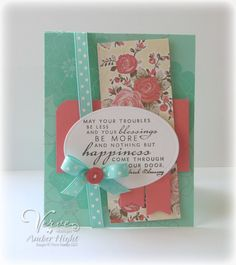 Card by Amber Hight using Blessings from Verve Stamps.  #vervestamps