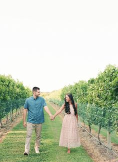 Picnic Engagement Session at A Winery