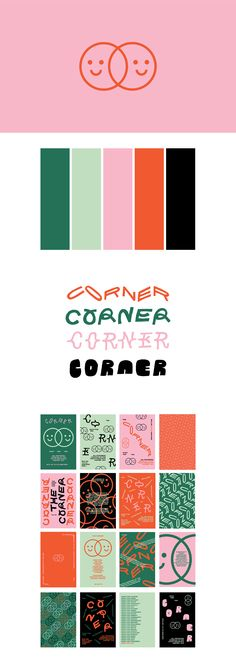 Corner Branding and Design Corporate Design, Brand Identity Design, Graphic Design Branding, Typography Design, Stationery Design, Corporate Identity, Lettering, Cv Inspiration, Graphic Design Inspiration
