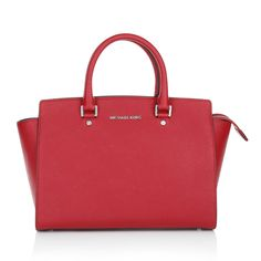 We like it hot! Hot red! The color combination of red and pink lights up a fashion fire! MICHAEL Michael Kors Selma LG TZ Satchel. Fashionette.de