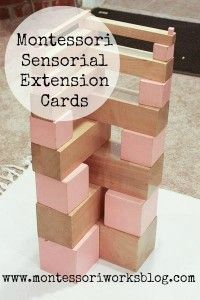 Montessori sensorial extension cards - what I made this week