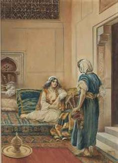 Vittorio Rappini (ITALIAN, 1877-1939)  In the harem