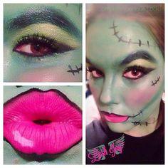 #Halloween #Younique #Makeup #3DMascara #Beauty #Frankenstein