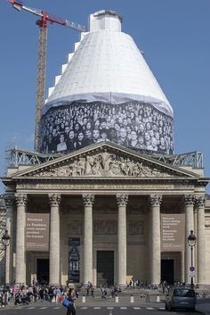 Artist JR turns the Panthèon in Paris INSIDE OUT | Until October 2014! http://www.yatzer.com/jr-inside-out-pantheon