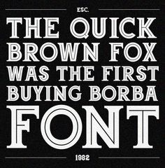 I LOVE INLINE TYPE! Borba font by UPPERTYPE , via Behance