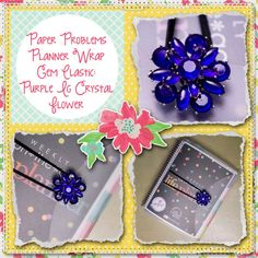 Planner covers, goodies & more for Erin Condren, Plum paper, inkwell press, limelife, simplified life, arc, mambi happy planner & more. Visit my Etsy listing at https://www.etsy.com/listing/230895803/new-purple-crystal-flower-large-band