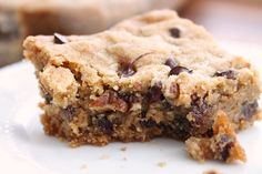 My friend Jess makes the most Amazing Chocolate Chip Cookie Bars! She got the recipe out of a Mrs. Fields Cookbook. In the book they are called Chocolate Chip Butterscotch Bars. I don't know why they call them that, they don't taste like butterscotch….but they do have butter in them. The first time I made …