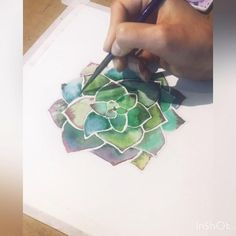 Minimalist art that brings color to people's homes by Modernlifeprints Succulents Drawing, Watercolor Succulents, Watercolor Cactus, Watercolor Art, Succulents Painting, Watercolor Paintings For Beginners, Watercolor Projects, Watercolour Tutorials, Plant Painting