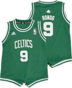 Rajon Rondo Boston Celtics Baby Mesh Jersey Creeper adidas. My baby will have on of these.