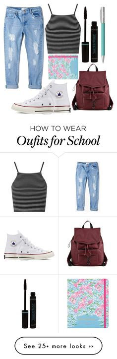 """""""back to school"""" by raheel-x on Polyvore featuring MANGO, Converse, Topshop, Rebecca Minkoff, Lilly Pulitzer and Faber-Castell"""