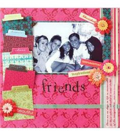 Friends Scrapbook Page