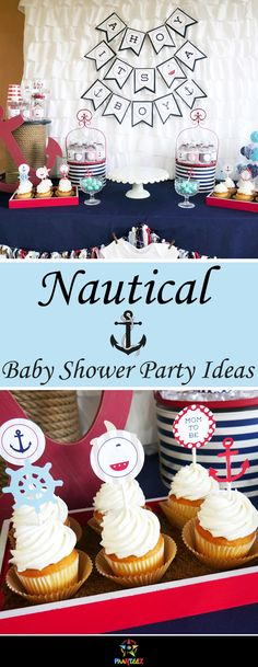 Nautical themed Baby Shower party  inspiration.