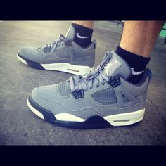 8fae8b52fb0c7 Air Jordan IV Retro Grey  sneakers  airjordan  jordan  nike Air Jordan  Sneakers