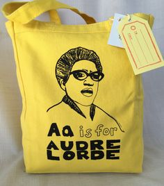 Feminist Alphabet Series: A is for Audre Lorde Tote Bag