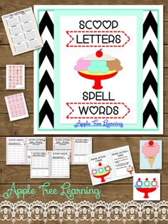 Word study activity for improving phonics, spelling, writing, & sorting!  SCOOP LETTERS - SPELL WORDS!! #workingwithwords #phonics #spelling #literacy #wordwork
